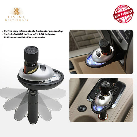 Living BeAtitudes Aromatherapy Essential Oils Car Diffuser  ● 2 Units