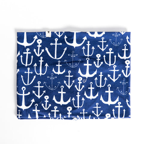 Navy Anchor Infinity Scarf