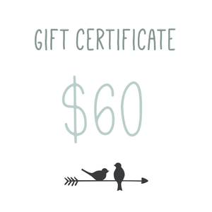 Gift Certificate $60