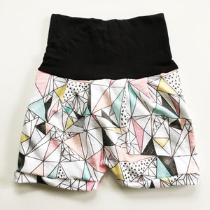 Geo Triangle Romper Shorts
