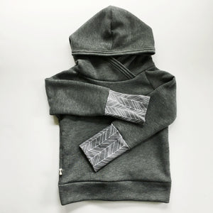 Dark Grey Back Zip Hoodie
