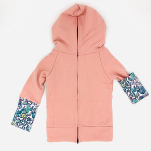 Blush Bamboo Fleece Back Zip Hoodie