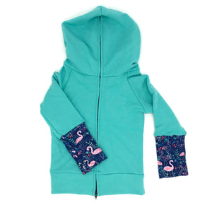 Mint Bamboo Fleece Back Zip Hoodie