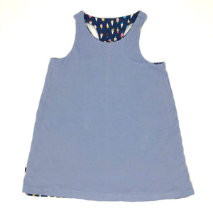 Ice Cream/Blue Reversible Racerback Tank Dress