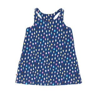 Summer/Ice Cream Reversible Racerback Tank Dress