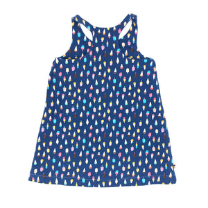 Ice Cream Double Sided Racerback Tank Dress