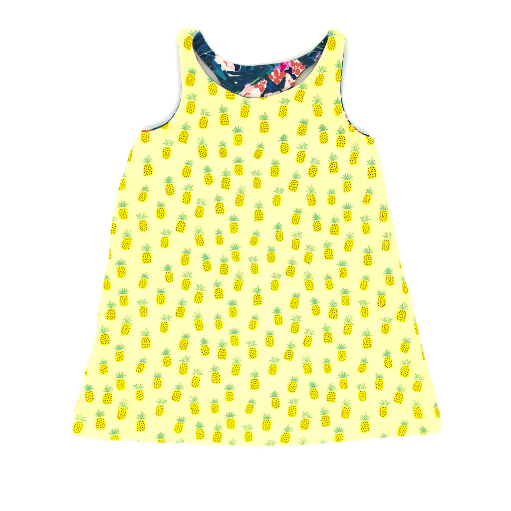 Pineapple Double Sided Racerback Tank Dress