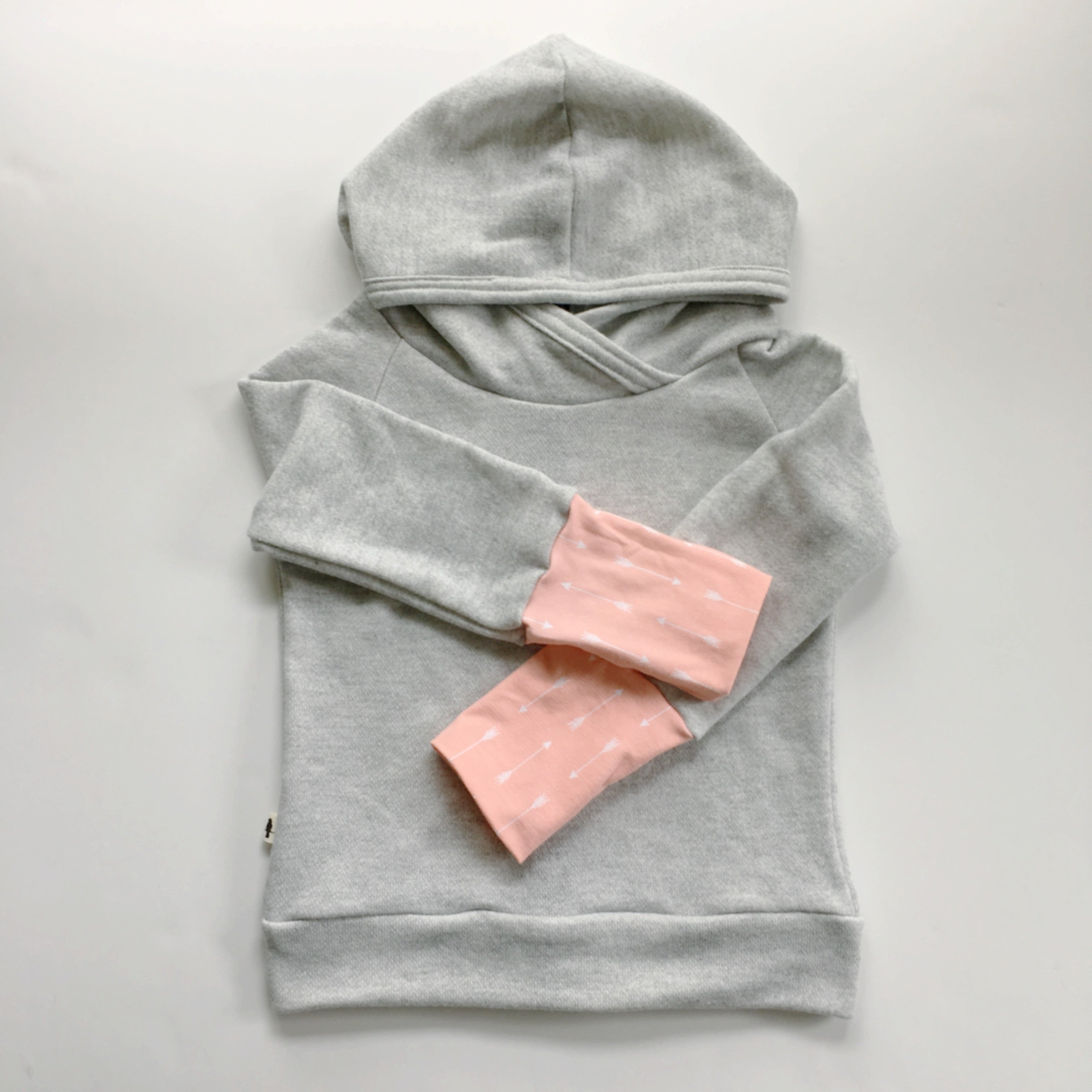 Light Grey French Terry Back Zip Hoodie