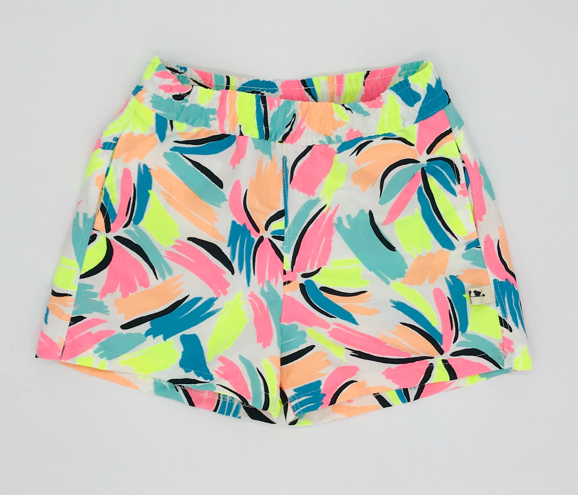 Florescent Palm Swim Shorts
