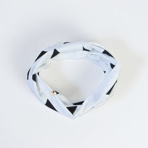 Black and White Triangle Infinity Scarf