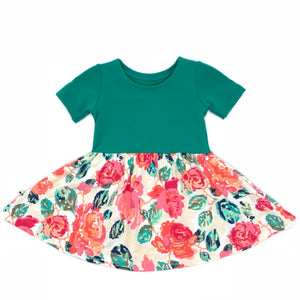 Swing Dress - Pixel Flower