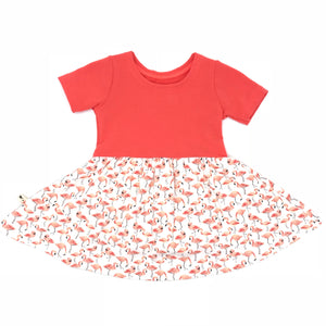 Swing Dress - Flamingo