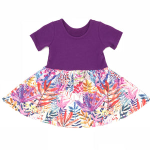 Swing Dress - Purple Meadow