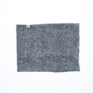 Harringbone Tweed in Black and White Infinity Scarf