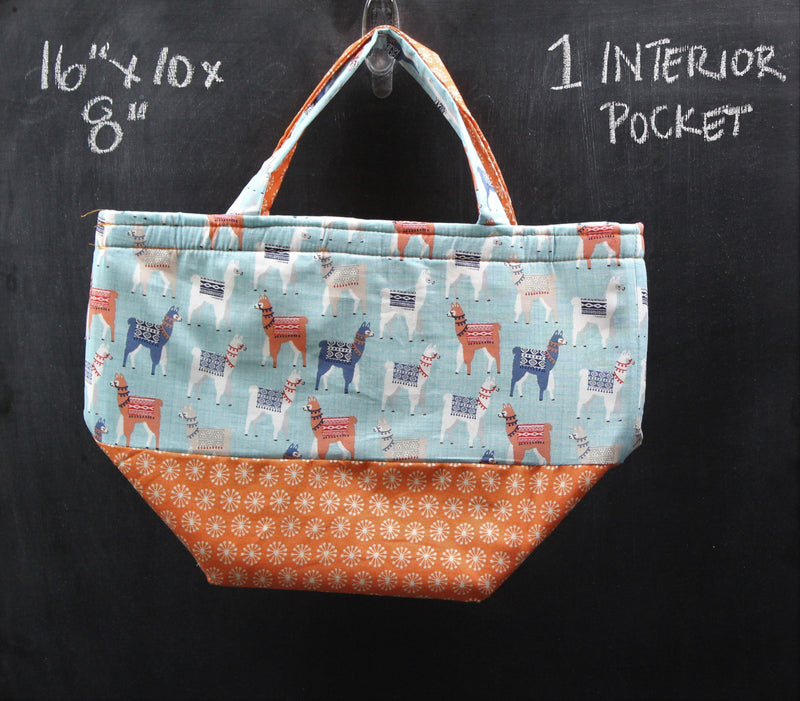 Bucket Tote Bag in Llamas