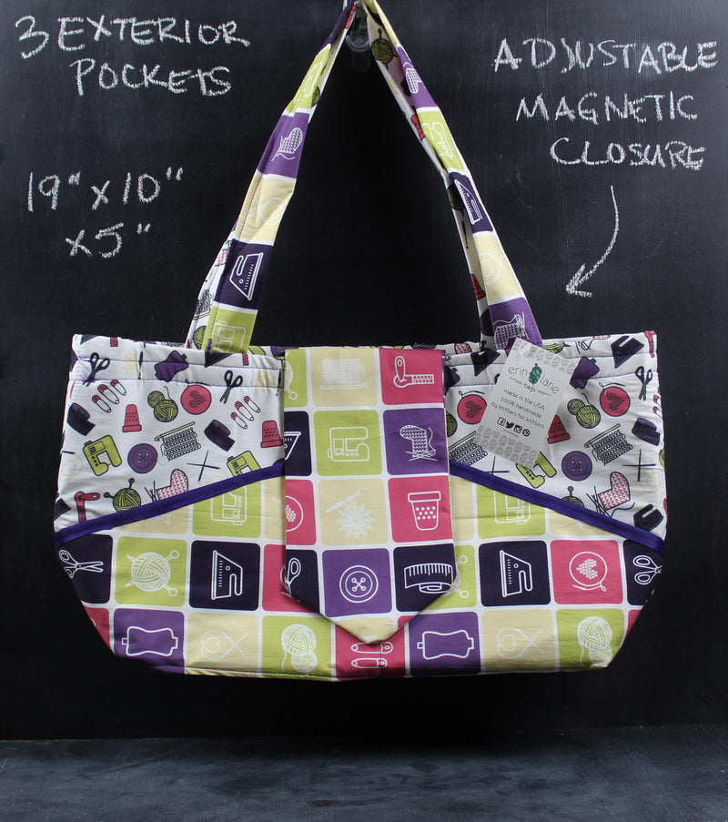 Ewesful Tote in Tools of the Trade with Purple