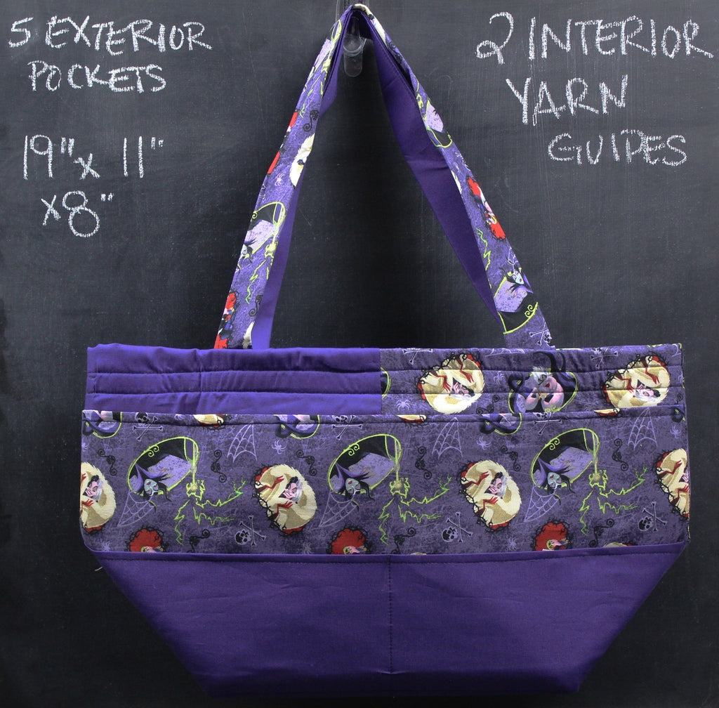 Barrel Tote In Purple Evil Queens Tote