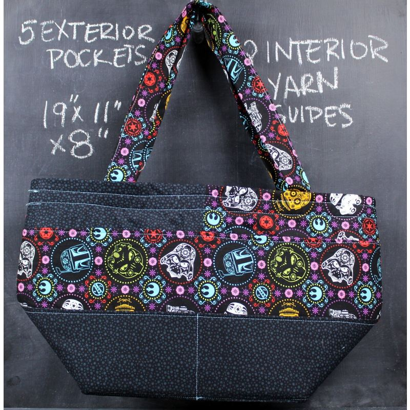 Barrel Tote Bag In Star Wars Sugar Skulls Tote