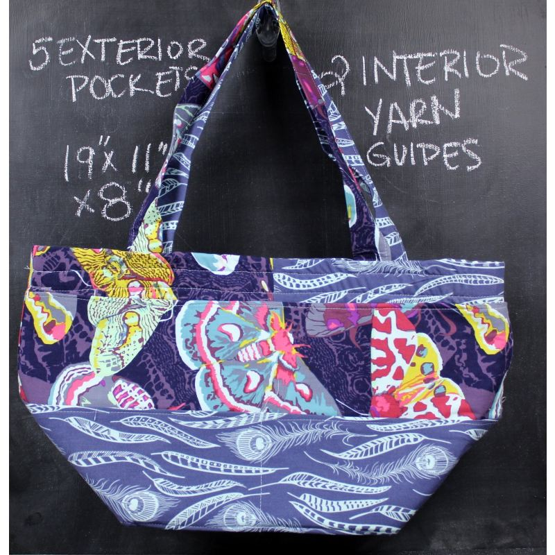 Barrel Tote In Blue Moths Tote