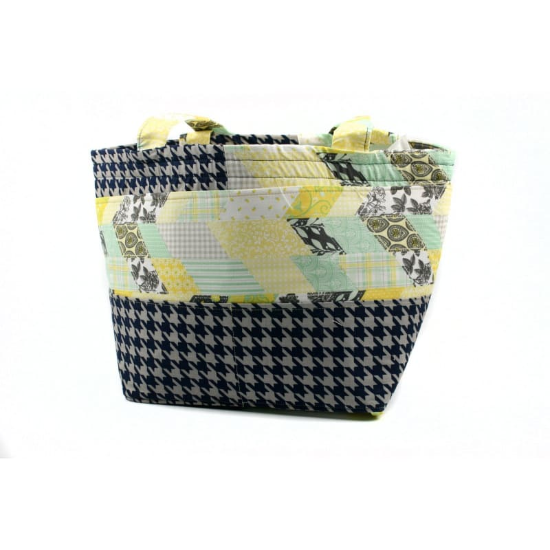 Barrel Tote In Quilt Squares