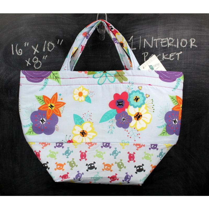 Bucket Tote Bag In Gothic Floral Tote