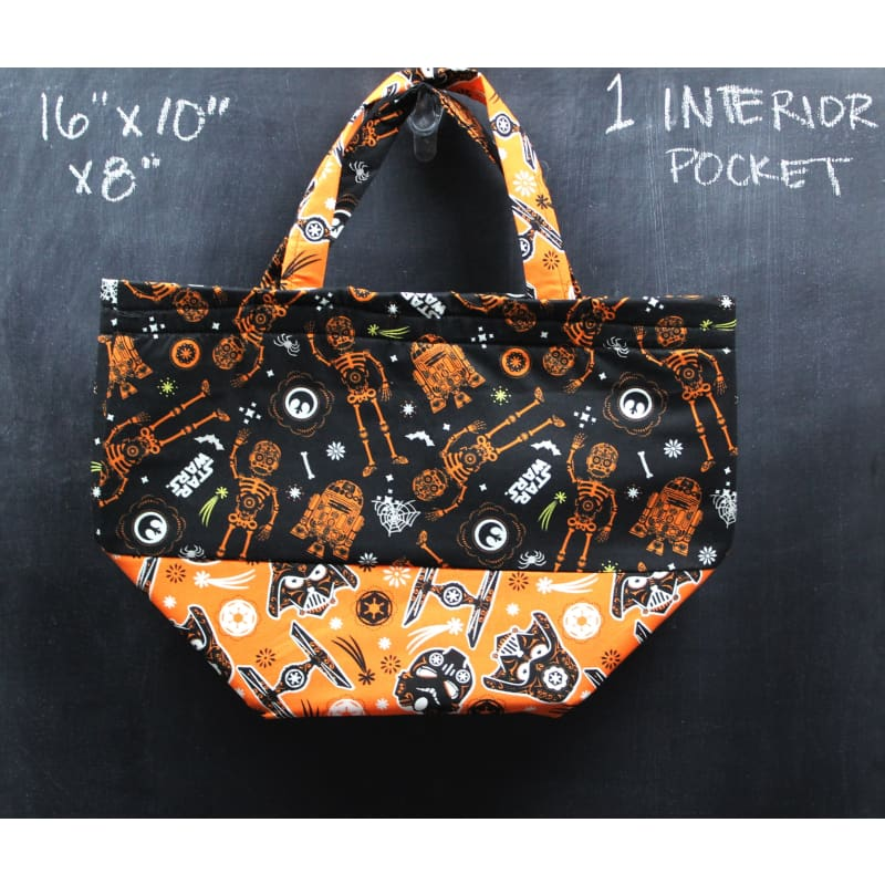 Bucket Tote Bag In Light Side And Dark Side Tote