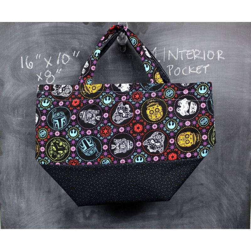 Bucket Tote Bag In Star Wars Sugar Skulls Tote