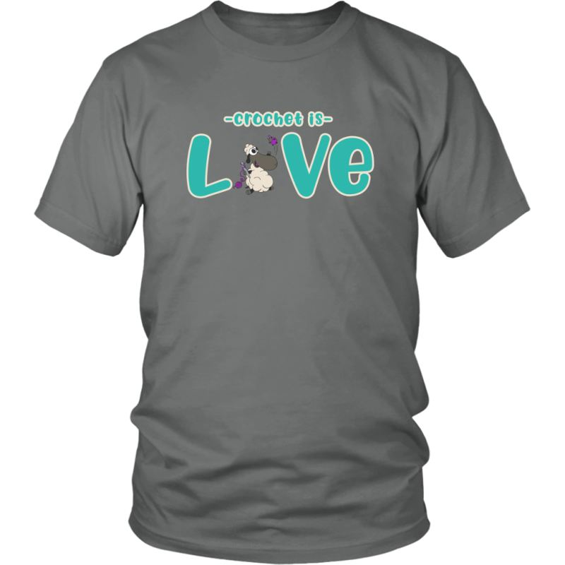 Crochet Is Love Tee District Unisex Shirt / Grey / S T-Shirt