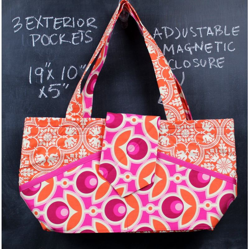 Ewesful Tote Bag In Mod Pink Floral Tote