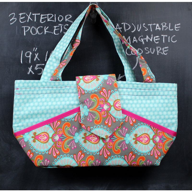 Ewesful Tote Bag In Teal Filigree Tote