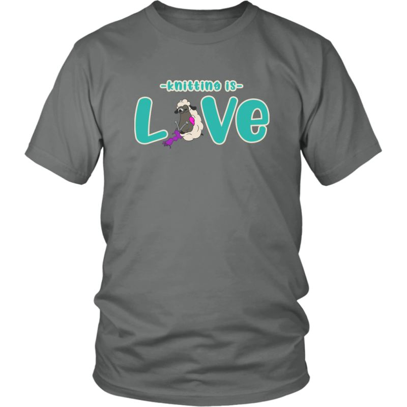 Knitting Is Love Tee District Unisex Shirt / Grey / S T-Shirt
