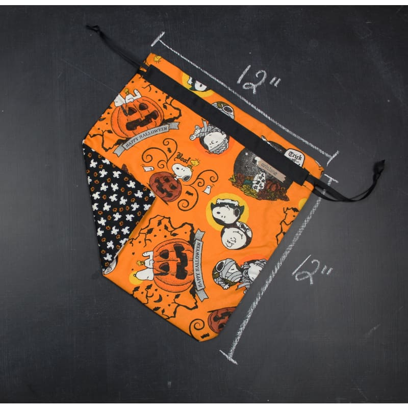 Small Project Bag in Orange Snoopy