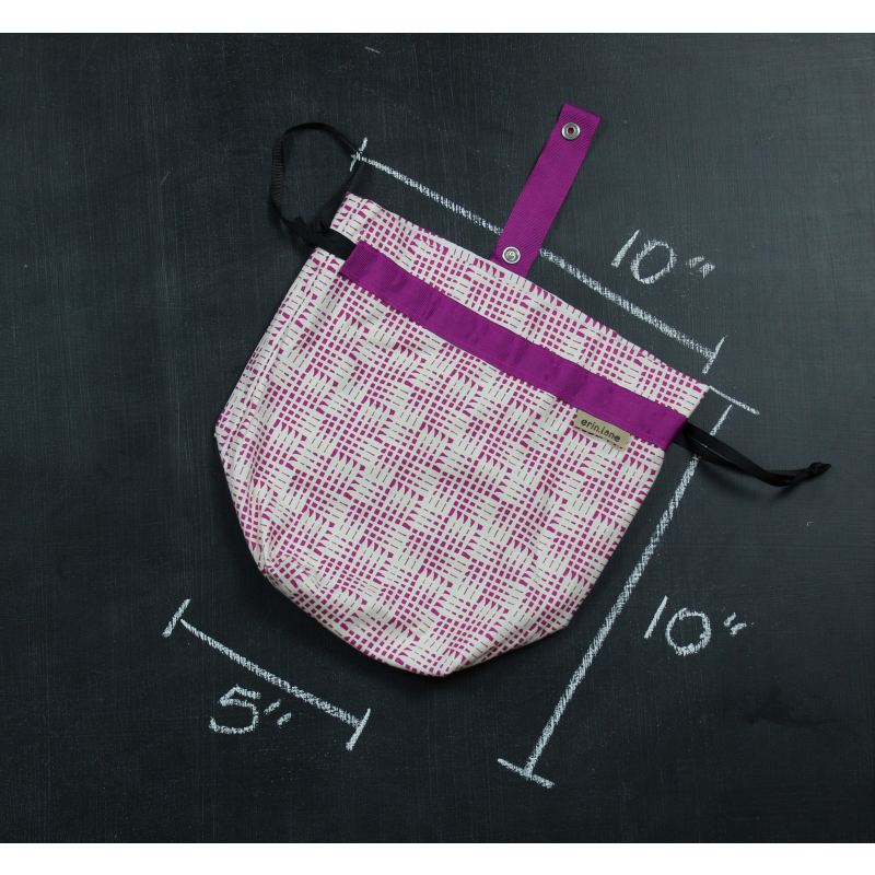 Sock Project Bag In Fuschia Check Project Bag