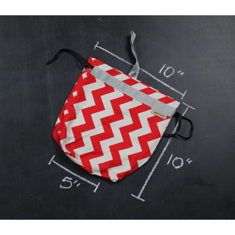 Sock Project Bag In Red Chevron Project Bag