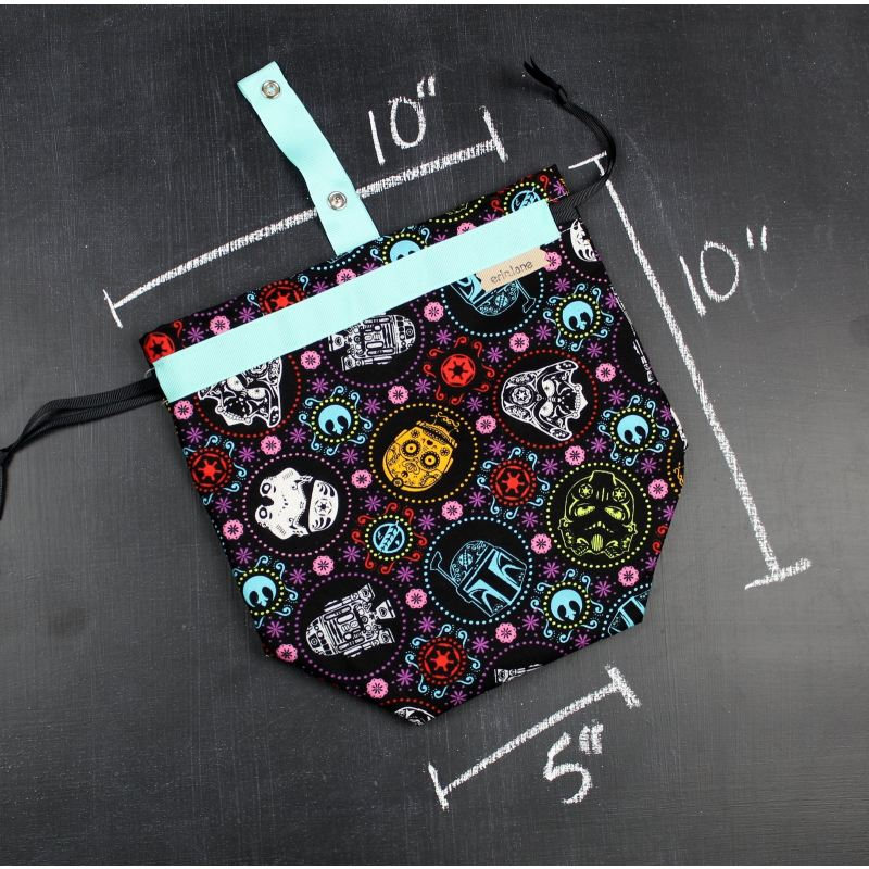 Sock Project Bag In Star Wars Sugar Skulls Project Bag