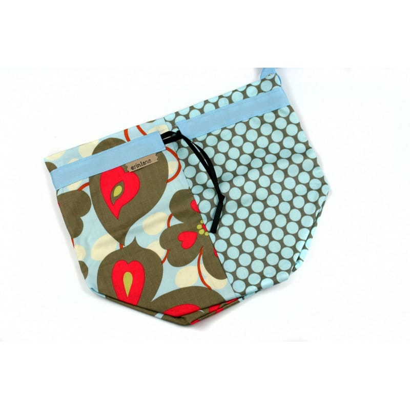 Twofer Project Bag In Red And Blue
