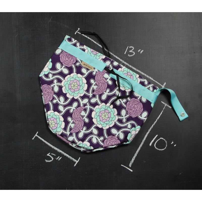 Twoferproject Bag In Purple And Teal Vines Project Bag