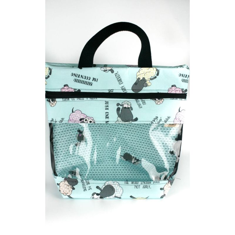 View-Ewe Tote Bag In Stitchy Sheeple Quotes