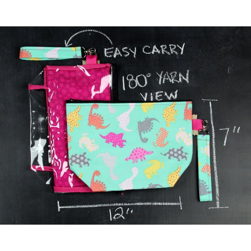 Zee-Thru Project Bag In Dino Dots Project Bag