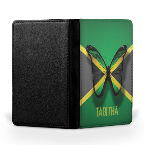 Personalized Passport Cover, Passport Holder - Jamaica Fly