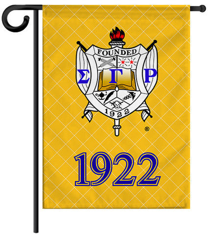 Garden Yard Flag or House Flag Banner - Sigma Gamma Rho Sorority - Designs by Dee's Hands  - 1