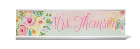 Rosewater Personalized Desk Name Plate - Holder not included see link in description where to buy - Designs by Dee's Hands  - 1