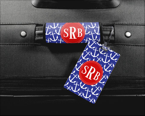 Luggage Tag and Luggage Finder Set - Personalized Monogram Options