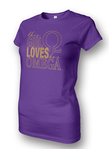 RQQ! Apparel - Ladies Tee This Girl Loves Her Omega Ladies T-Shirt
