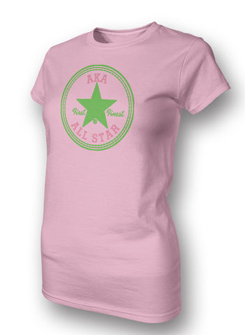 Skee Wee! Apparel - Alpha Kappa Alpha All Star Ladies Tee