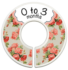 Custom Baby Closet Dividers Clothes Organizers - Shabby Chic - Peach - Designs by Dee's Hands  - 1
