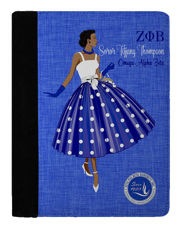 Ms. ΖΦΒ Personalized Padfolio Notebook - Designs by Dee's Hands  - 1