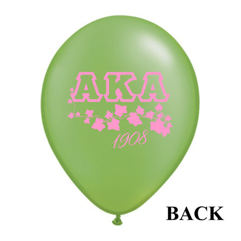 "12"" Alpha Kappa Alpha Sorority Latex Balloons - Will Begin to Ship by 12/5/2016 - Designs by Dee's Hands  - 4"