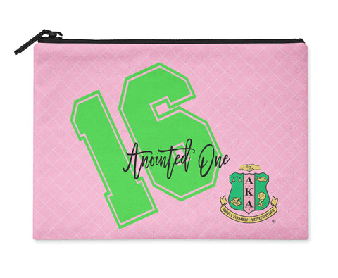 Accessory Bag, Coin Purse, Makeup Pouch, Personalized Zippered Pouch - Alpha Kappa Alpha - Designs by Dee's Hands  - 1