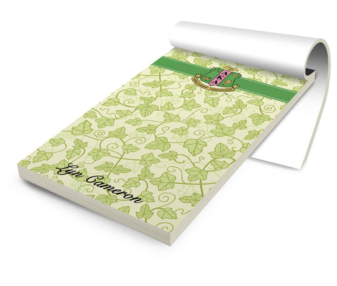 Personalized Stationery Notepad, Sorority AKA Ivy - Designs by Dee's Hands